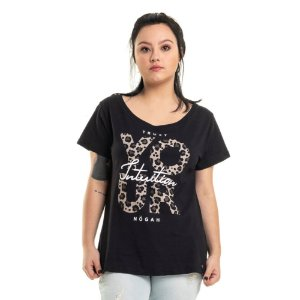 T-shirt Intuition Double Face Preta