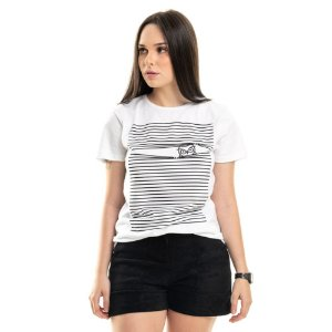 T-shirt Listras Nogah Branca