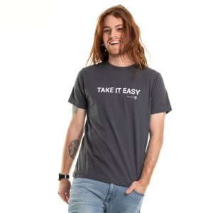 Camiseta Take it Easy Cinza