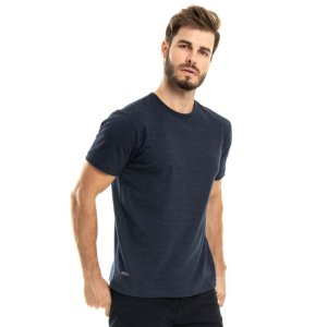 Camiseta Nogah Basic Poá Marinho