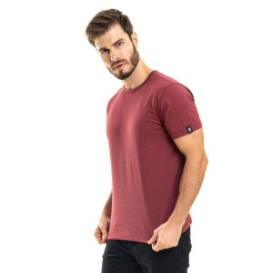 Camiseta Nogah Basic Poá Bordô