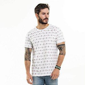 Camiseta Hamsa Longline Branca