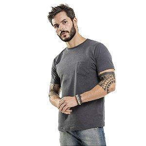 Camiseta Nogah Basic com Bolso Chumbo
