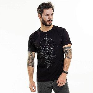 Camiseta Geometria Preta
