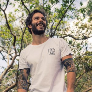 Camiseta Buddha Longline Branca