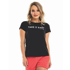 T-shirt Nogah Take It Easy Preta