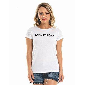 T-shirt Nogah Take It Easy Branca