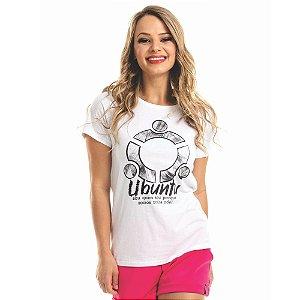 T-Shirt Ubuntu Branca