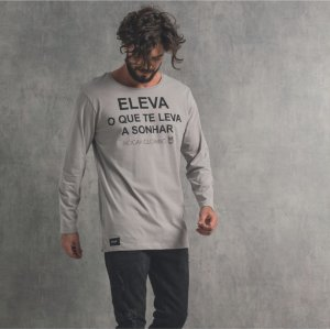 Camiseta Nogah Eleva Mescla Longline