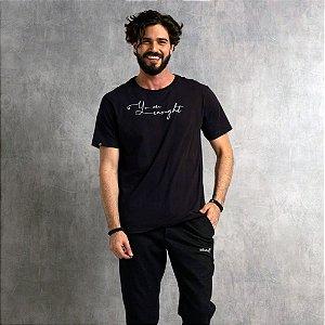 Camiseta Nogah Enought Preta