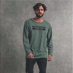 Camiseta Nogah Create It Longline Verde