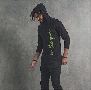 Camiseta Nogah See The Good com Capuz Preta