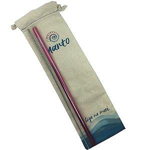 Kit canudo rosa Ø 8mm reto