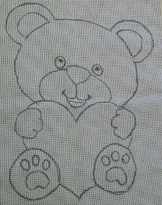 Urso Coração 60X80cm