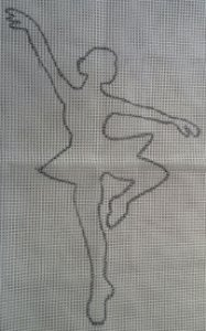Bailarina 60x80cm
