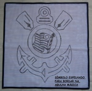Time do Corinthians 60x60cm