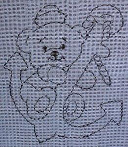 Urso Marinheiro 60x80cm