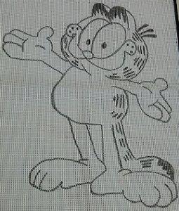 Talagarça Garfield 60x80cm