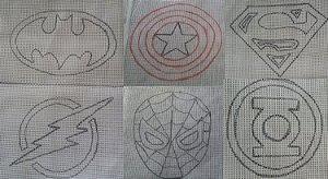 Talagarça Super Heróis 60x60cm (escolha o personagem)