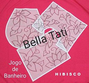 Talagarça Jogo de Banheiro - 03 peças (ESCOLHA O DESENHO)