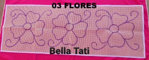 Passadeira Flores e Geométrica140x50cm (escolha o desenho)