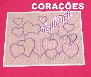 Coração LOVE 50x70cm (escolha o desenho)