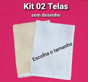 Kit 02 Talagarça sem desenho (escolha o tamanho)