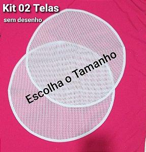 Kit 02 Talagarça REDONDA sem desenho (escolha o tamanho)