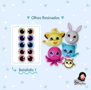 Olhos Resinados Bolofofo 1 - F11 - Faby Rodrigues