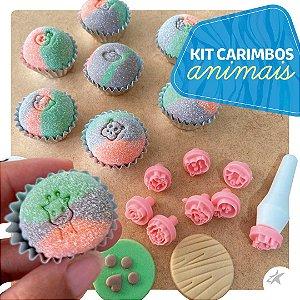 Kit Carimbos Animais Rosa