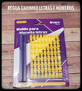 Régua Carimbo de Letras e Números