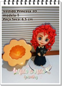 Vestido Princesa 3D modelo 1