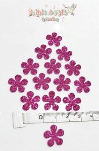 Flor em E.V.A com Glitter