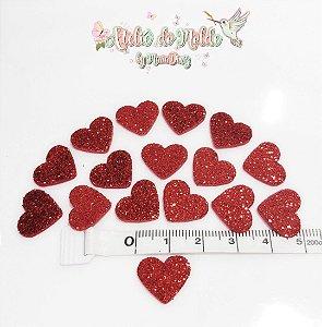 Coração E.V.A com Glitter