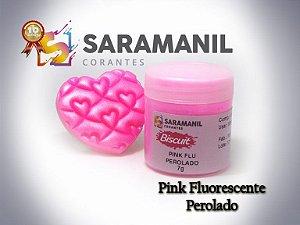 Corante em Pó Pink Fluo Perolado