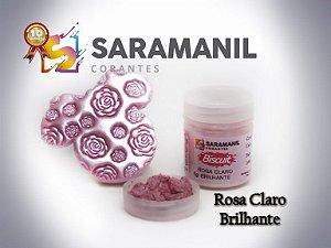 Corante em Pó Rosa Claro Brilhante