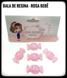 Bala de resina Rosa Bebê