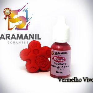Pigmento líquido vermelho vivo