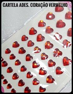 Cartela Adesiva Coração