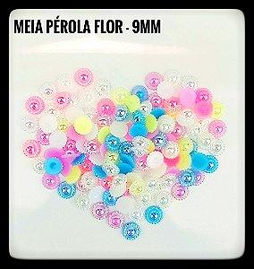 Meia Pérola Flor - 9mm