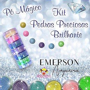 Pó Mágico - Kit Pedras Preciosas Brilhante