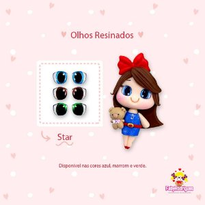 Olhos Resinados Star - F03 - Faby Rodrigues - Mista