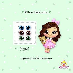 Olhos Resinados Mangá - F08 - Faby Rodrigues - Mista