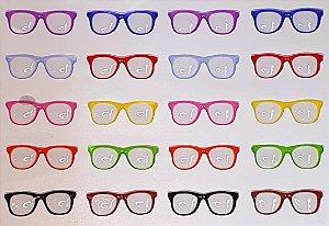 Óculos Coloridos - Tradicional - Transparente