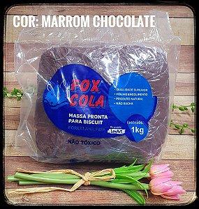 Massa para Biscuit FOX - Marrom Chocolate