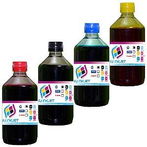 2 Litros de tinta para Impressoras HP(500 mL de cada cor)
