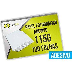 Papel Fotográfico Adesivo 115g, 100 Folhas