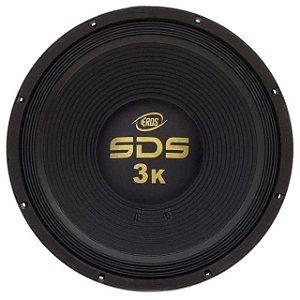 Woofer Eros 15 Pol Sds 3k Bass 1500w Rms 4 Ohms Pancadão