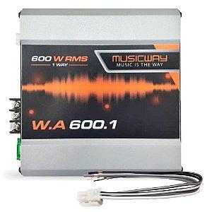 Módulo Amplif Music Way W.A 600.1 600 W RMS 1 Canal