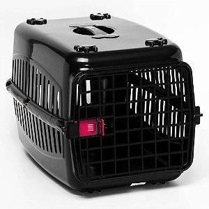 N2 Caixa De Transporte Alça Coelho Cachorro Gato PRETA/PORTA